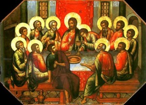 holy week 2012; the last supper