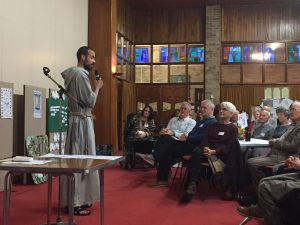 Fr Francesco Gavazzi  CFR delivering his open, honest and engaging talk 'Called to be a Saint' on 8th April.